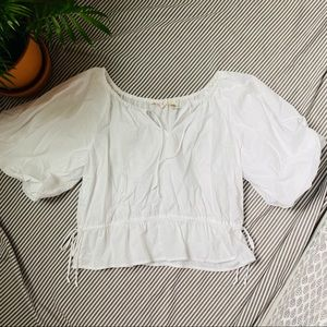 Levi's cottage white blouse